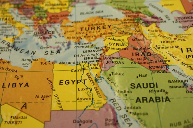 Map Egypt Saudi Arabia Iraq Israel Langwitches Flickr - Map of egypt and saudi arabia