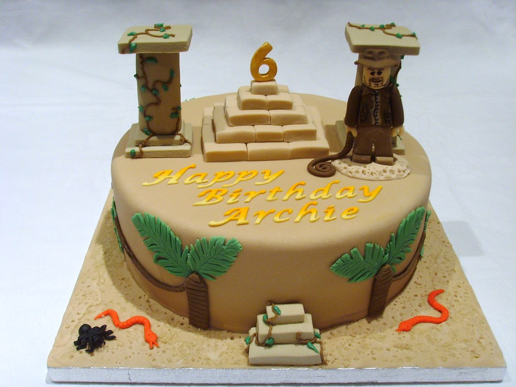 Lego Indiana Jones Cake Lego Indiana Jones Birthday Cake