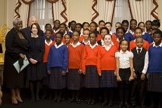 The Maria Fidelis Convent School Gospel choir, led by Karen Gibson (on left) | by usembassylondon