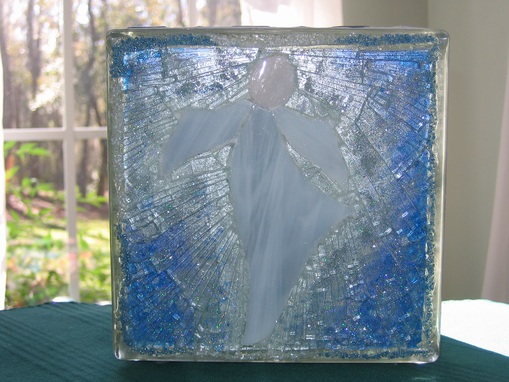 Angel Glass Block 2 Stained Glass Tempered Glass