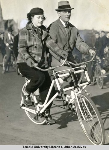 Sociable Tandem In The Bike Parade Betty Simpson