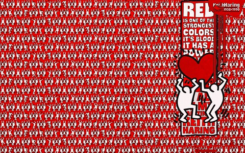 TYPODERMIC »Thump« Keith Haring Red (for widescreen displays) | by arnoKath