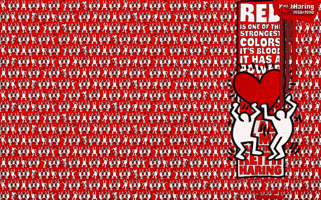 TYPODERMIC Thump Keith Haring Red For Widescreen Displays