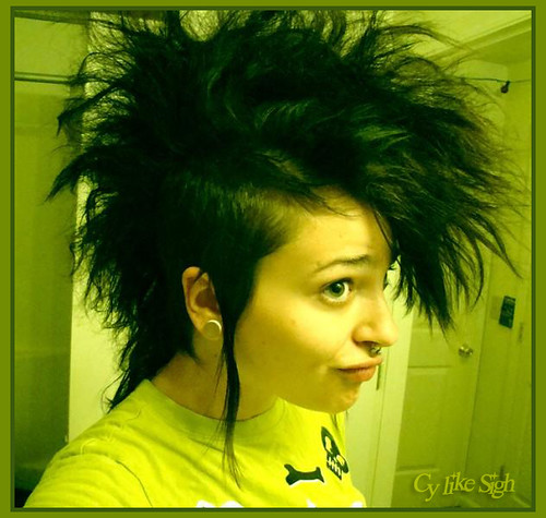 Deathhawk of DOOM | Because girls can totally rock mohawks