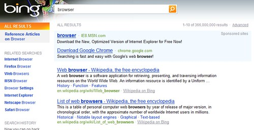 Googl e Advertises On Browser At Bing | See Google ...
