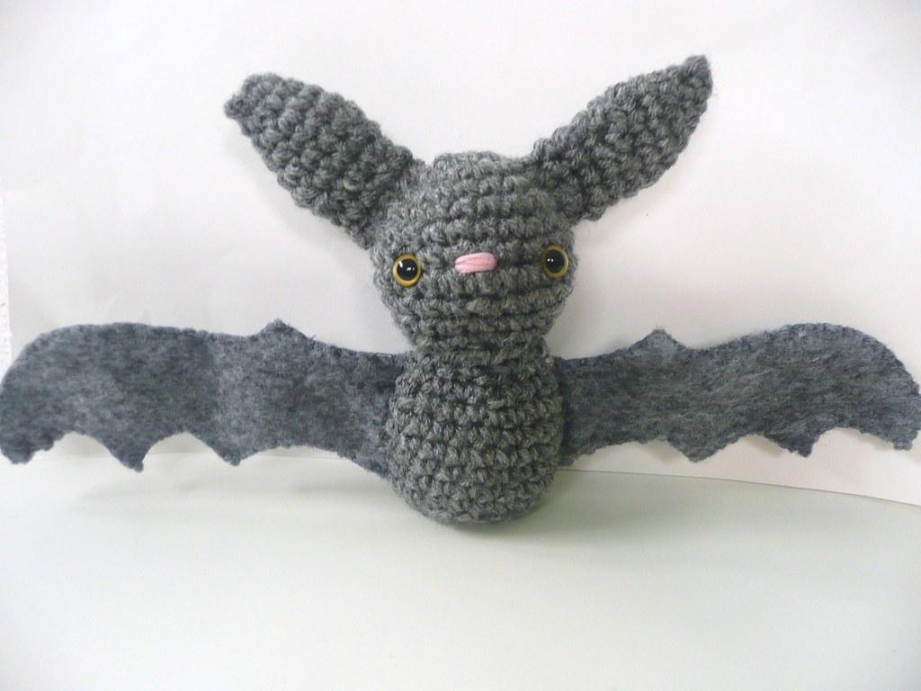 Amigurumi Bat Wings : Gray Bat This adorable bat amigurumi is gray all over ...