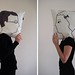 Pillow covers 'Man Asleep/Woman Awake' by Audrey Jeanne from Anisy (FR)
