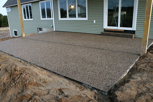 ... Peastone Exposed Aggregate Patio. By The Concrete Artisans, Inc. | By  The Concrete
