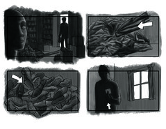 horror film storyboard | by j.albright