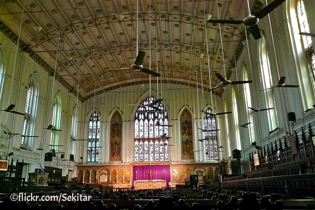 Kolkata Interior Of St Paul S Cathedral 1847 169 Sekitar