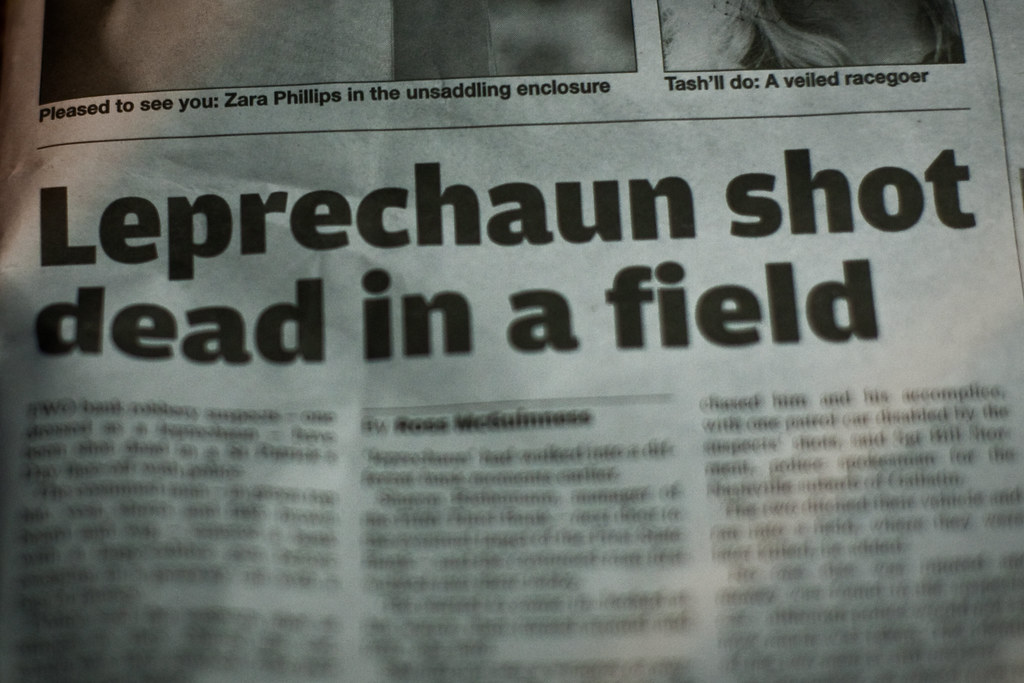 Undercurrents Blog: Dead leprechauns being discovered across Ireland