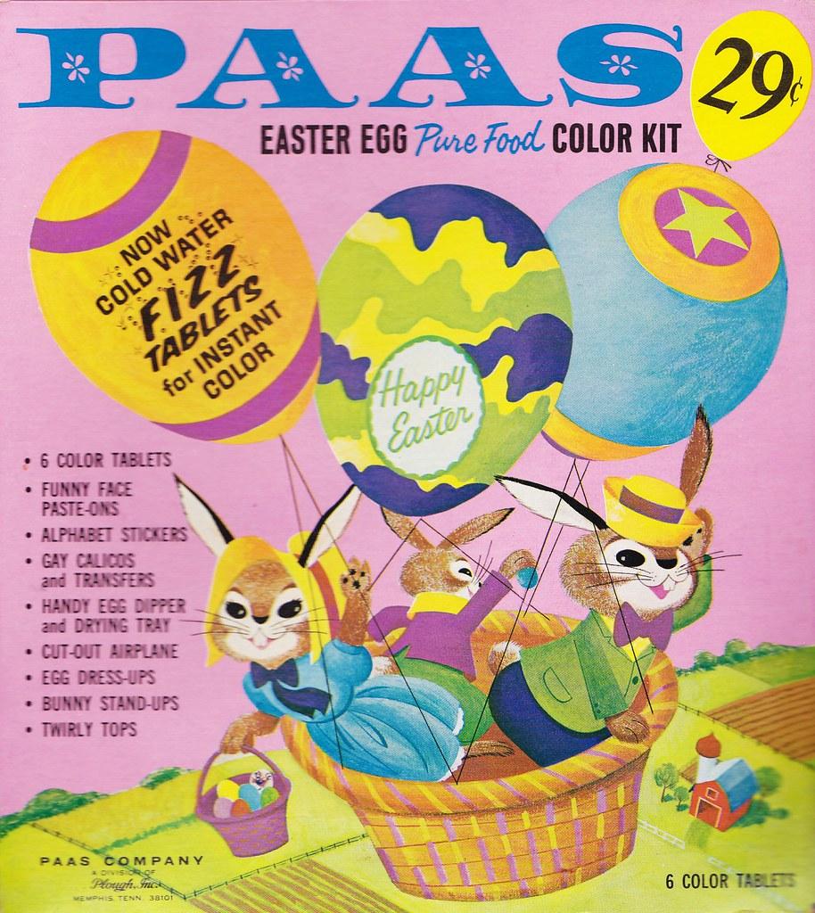 Vintage PAAS Easter Egg Coloring Kit 1960s | Heather David | Flickr