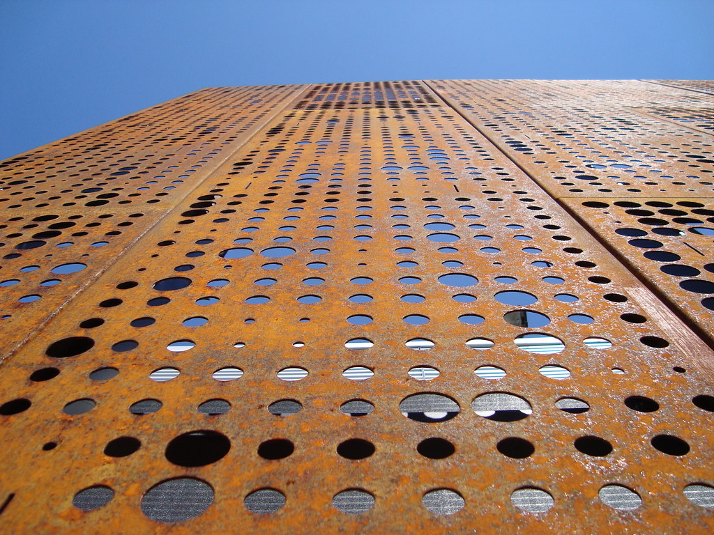 Acero corten ccgm chile material fachada centro - Acero corten fachadas ...