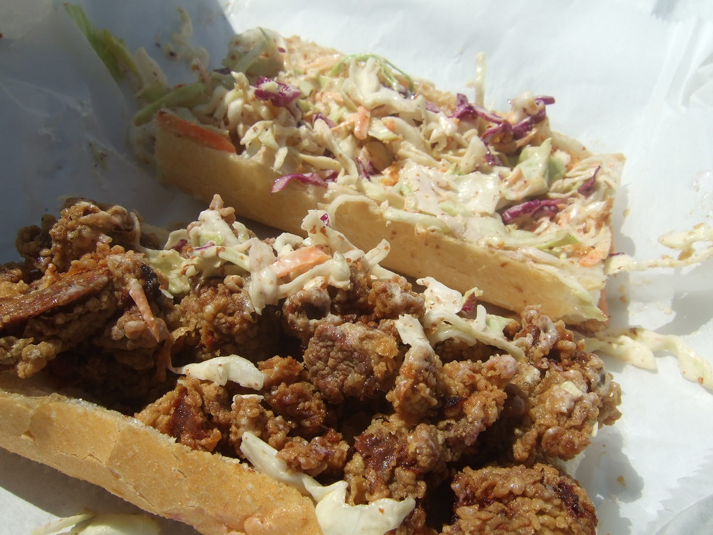 Fried Chicken Liver Amp Creole Slaw Po Boy Mahony S Flickr