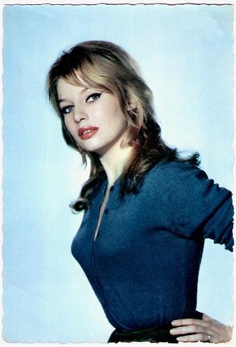 Annette Vadim | French postcard by M.D., Paris, nr. 14 ... натали портман
