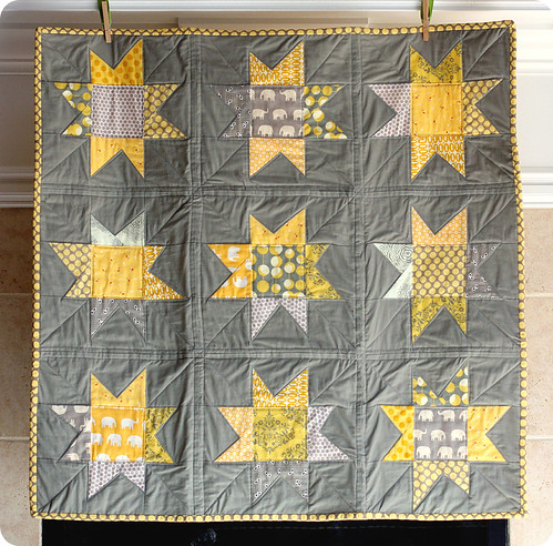 Wonky Baby Stars - the Grey & Yellow version | by susan weinroth