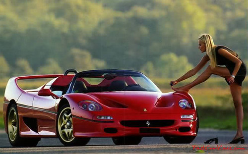 Cool Sports Cars Ferrari: Ferrari F50 And Sexy Girl