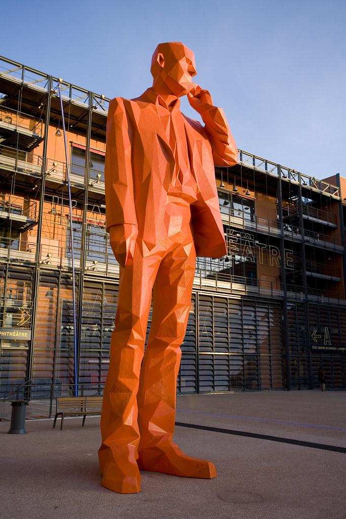 Giant Famous Rider Waite 78 Oversized Cards Tarot Deck: The Famous Orange Giant Statue Of The Cité Internationale