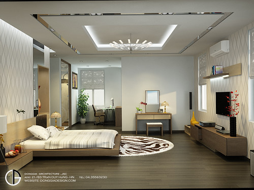 Villa interior design master bedroom bach trong duc flickr for Master bedroom interior design photos