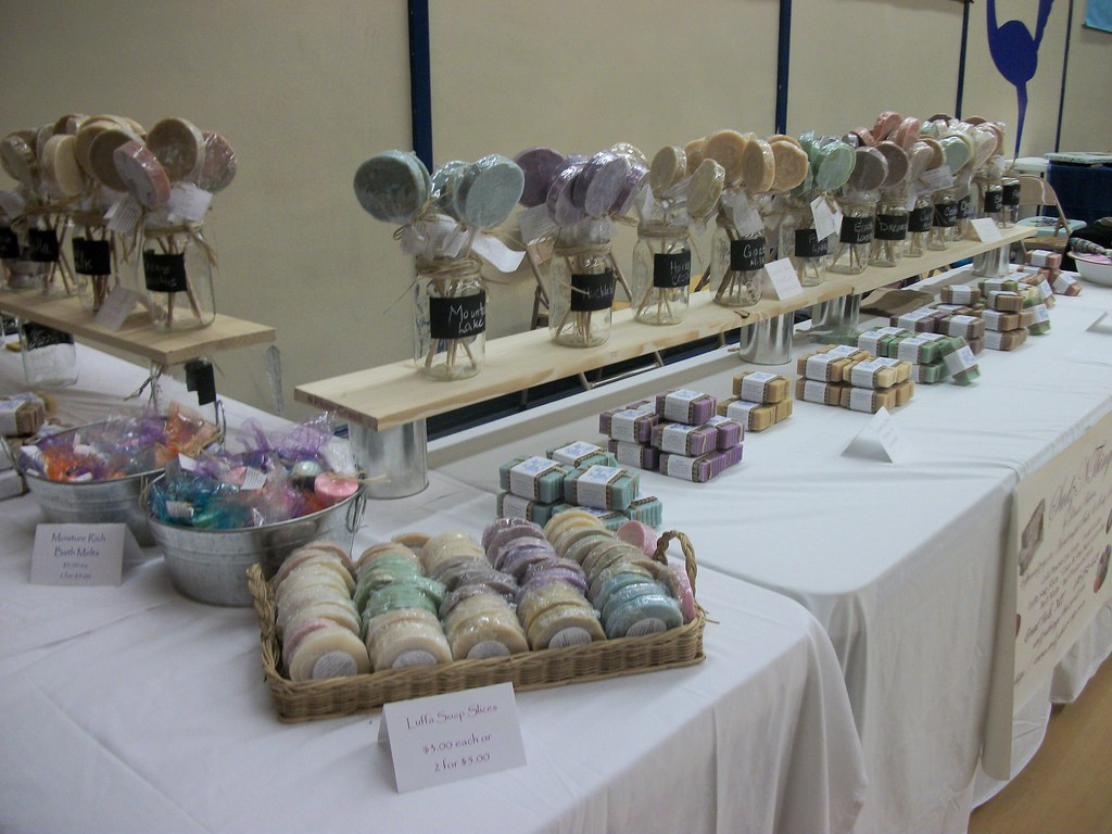Soap Table At Craft Show