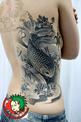 Koi Tattoo Black And Grey
