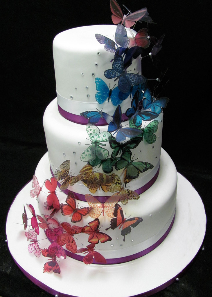butterflies for wedding cakes butterfly wedding cake flickr 12274