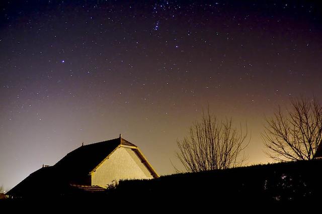 Orion Les 3 étoiles Alignées En Haut De La Photo Est Une P