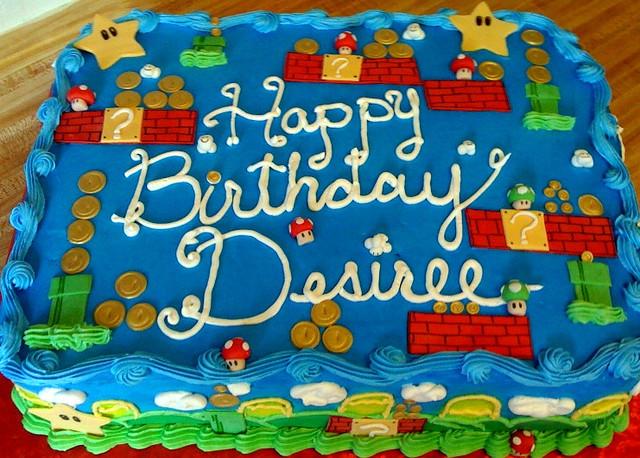 Super Mario Bros Sheet Cake Dessertsbyjeanette Flickr