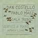 Cartel Dan Costello y Pablo Maez en la Sala Trebol