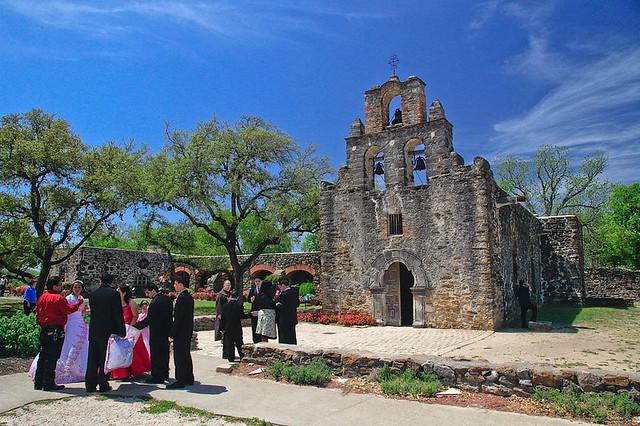 Mexican Wedding Espada Mission San Antonio Texas April 200