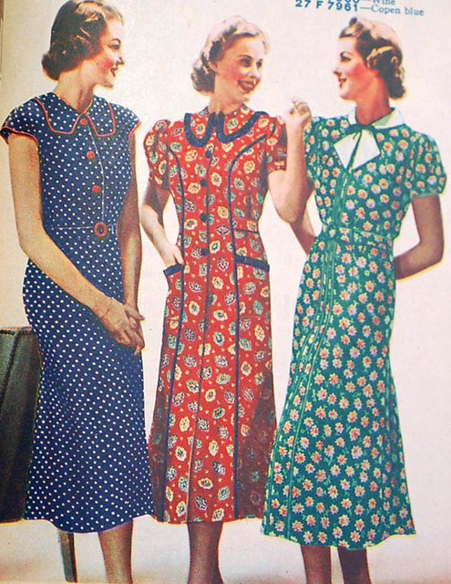1930s fashions catalog | 1930s dresses that remind me of a ...