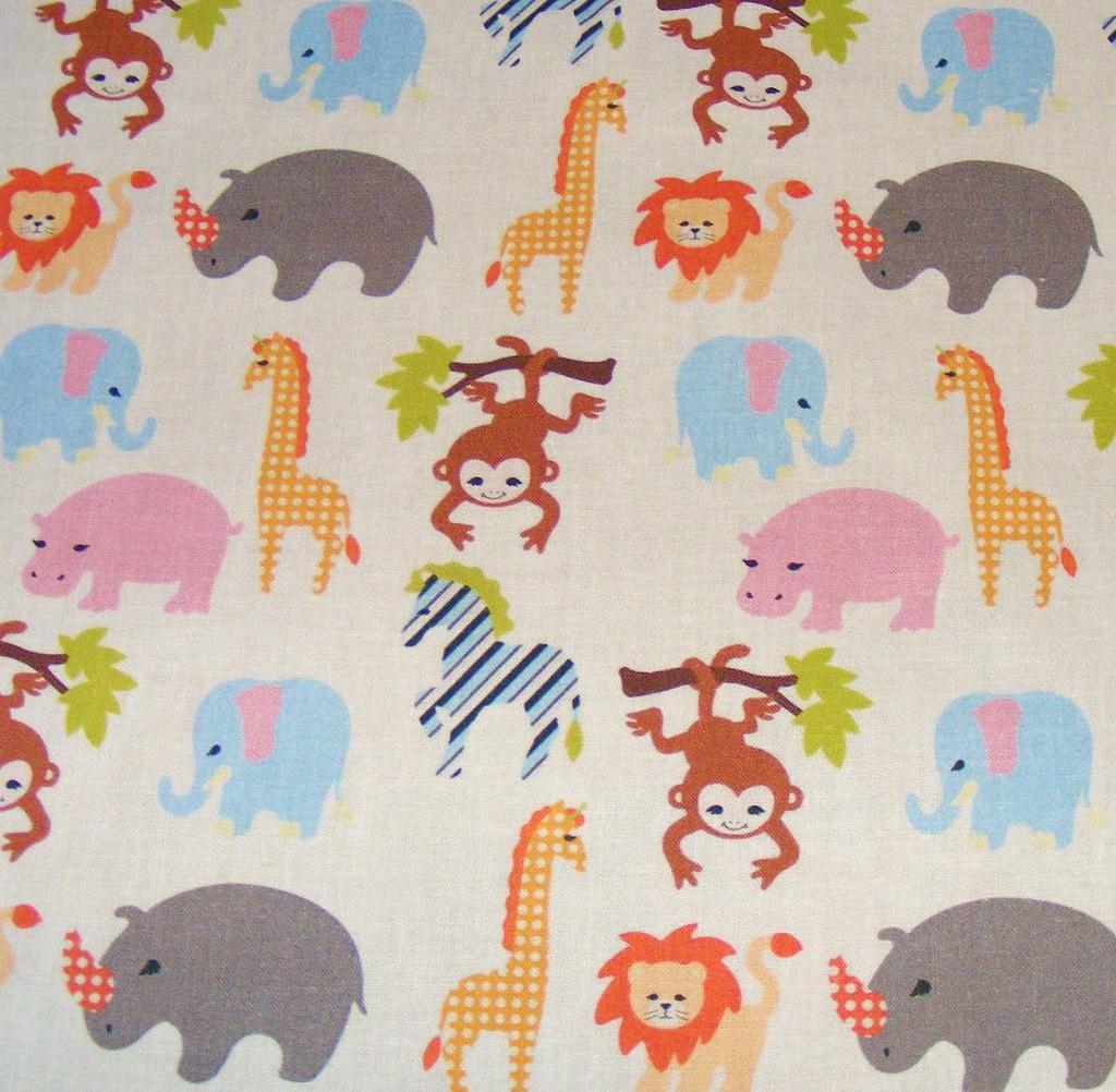 Jungle safari fabric swatch 8 x8 swatch star primm for Safari fabric for nursery