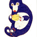 cuscus eating a fruit