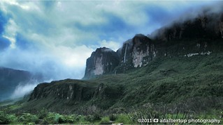 A Waterfall after the rain. Mount Roraima. Roraima Tepuy | by Adalbertop