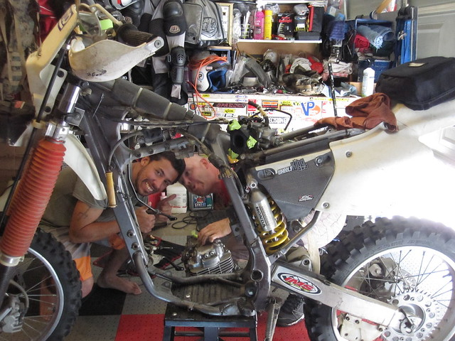 Honda XR 400 Engine Removed from Frame / Broke Gear Tooth | Flickr