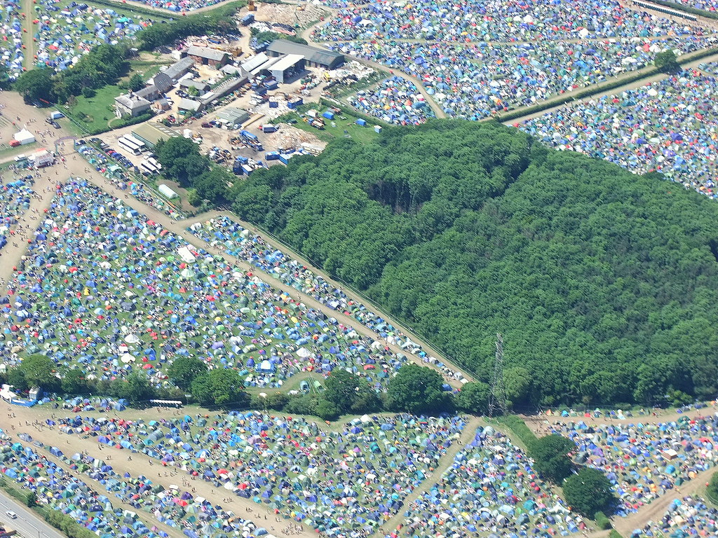 Isle of Wight festival campsite from the air  saltburger  Flickr