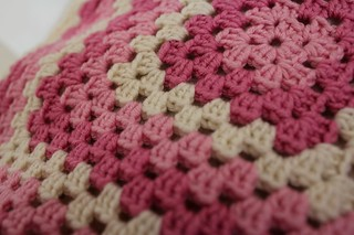One large grannysquare baby blanket | by Maren Lie Malmo