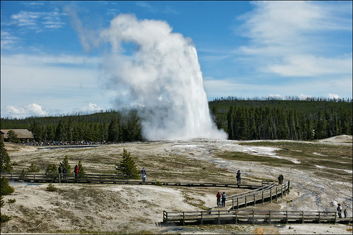 old faithful yellowstone national park | by Dan Anderson.