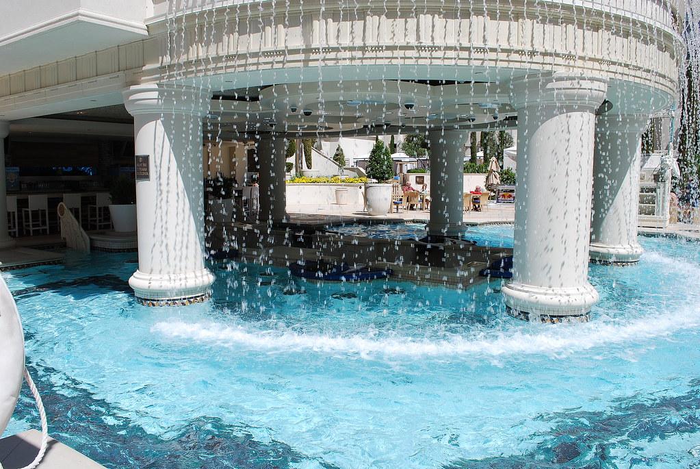 Caesars palace las vegas pool swim up bar table games for Caesars swimming pool