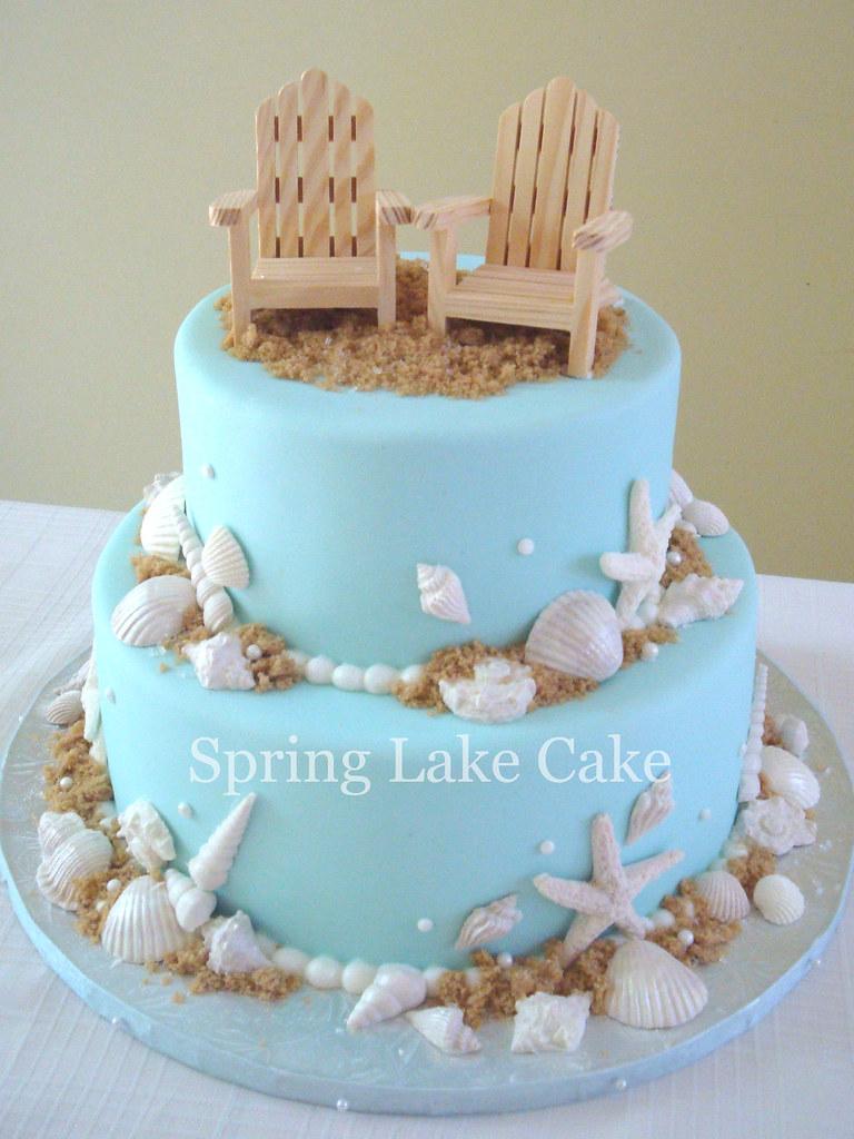 Seashell Wedding Cake For A Small Beach Wedding Today