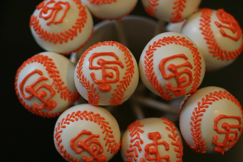 SF Giants Cake Pop baseballs | by Sweet Lauren Cakes