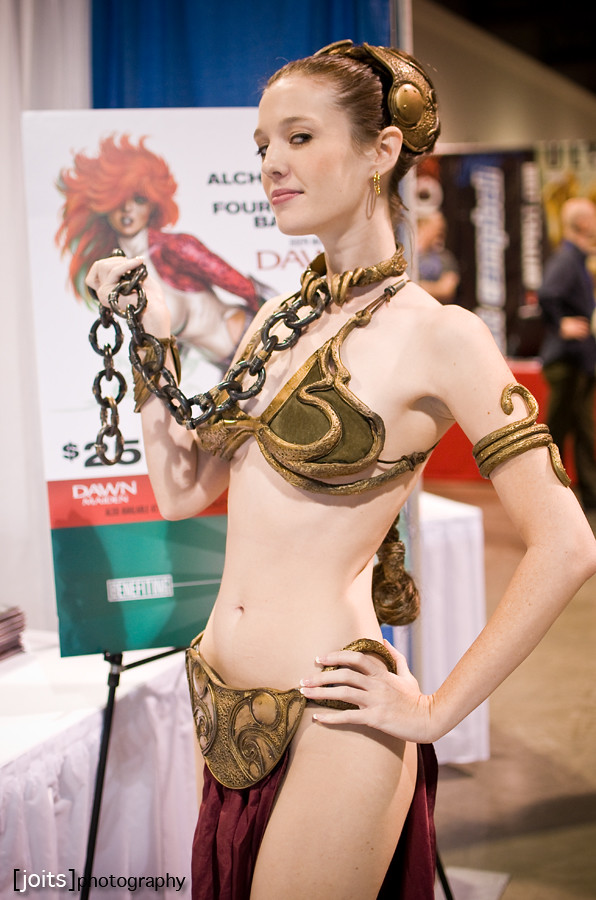 Princess leia slave costume strips and masturbates