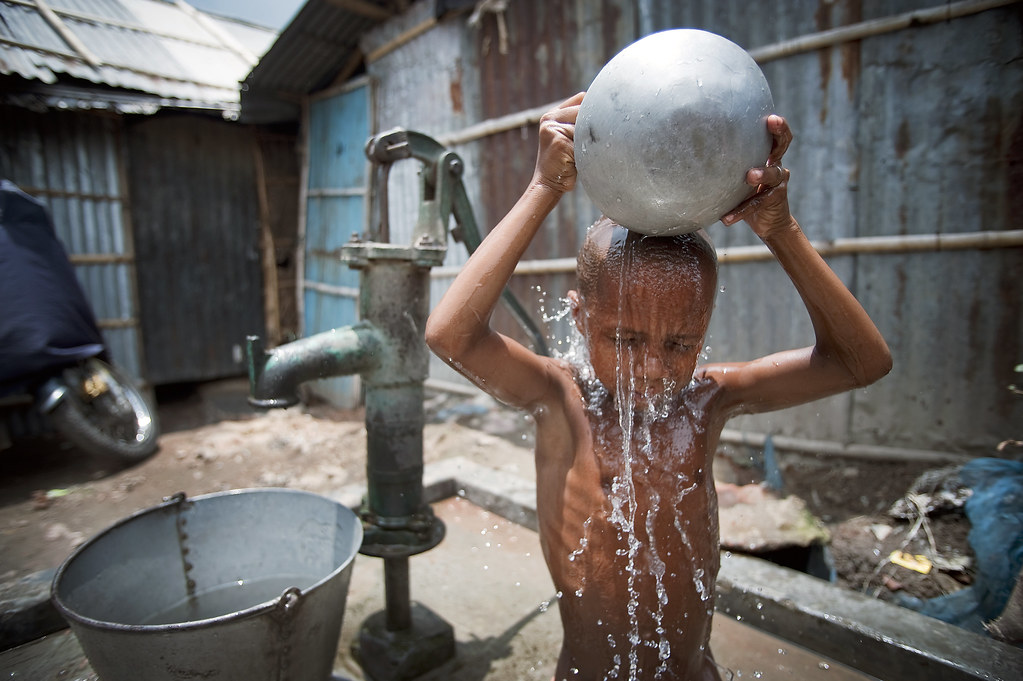 Water and Sanitation in Developing Countries | A child washe ...: https://www.flickr.com/photos/un_photo/5140179042