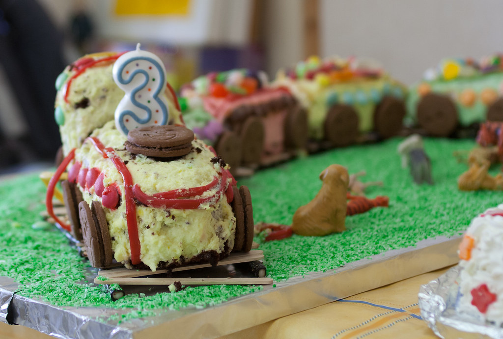 Engine Birthday Cake