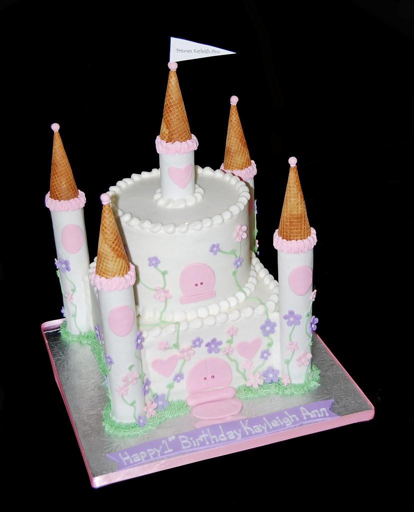 Purple First Birthday Cake
