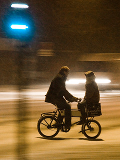 Snowstorm Doubling - Cycling in Winter in Copenhagen | by Mikael Colville-Andersen