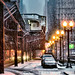 Snow Day Chicago: Early Morning on Wabash Avenue