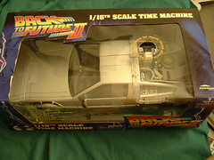 Top of box to DeLorean