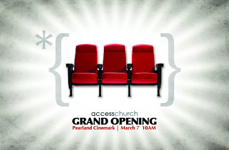 grand opening postcard our church is moving to a theater a flickr