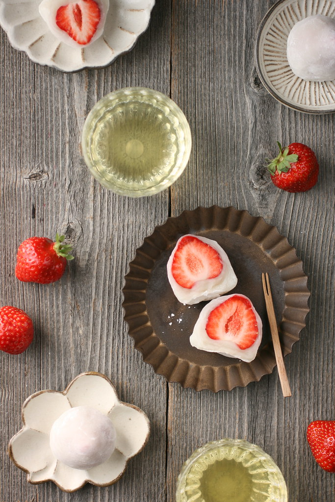 Ichigo Daifuku (Strawberry Mochi) | Ingredients: strawberrie ...